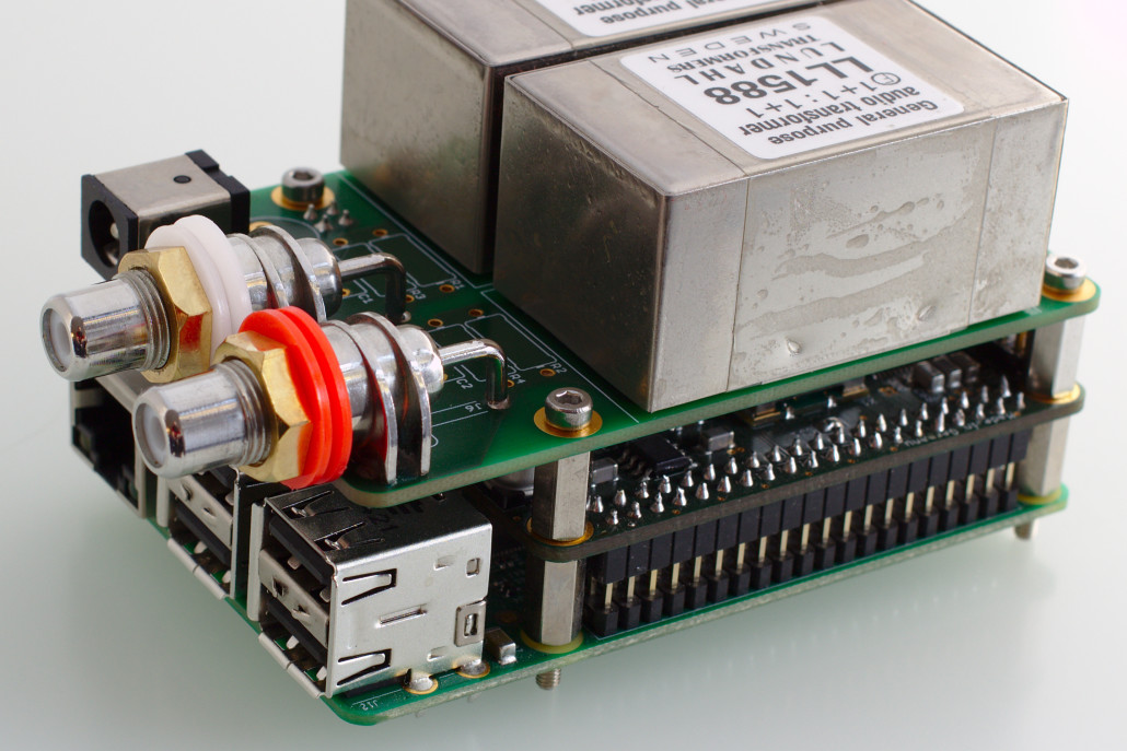 Assembled Raspberry Pi DAC