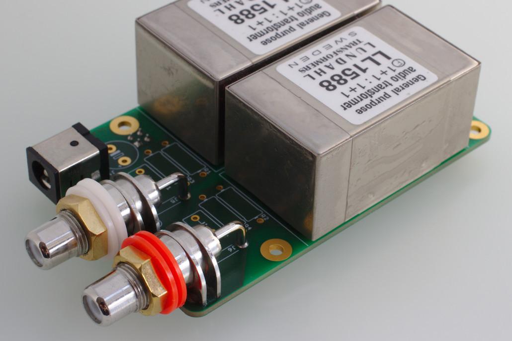 Lundahl transformer output stage for WM8741